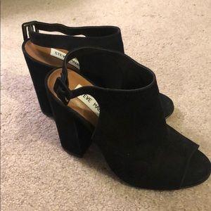 Black suede heeled sandal - Steve Madden - sz 5.5
